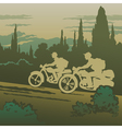 Motorcyclists travelling vector image vector image