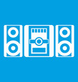 music center icon white vector image vector image