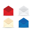 open envelope set vector image vector image