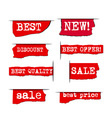 promotion advertising stickers vector image vector image