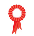Red award ribbon vector image vector image