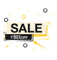 sale up to 50 off square frame background vector image