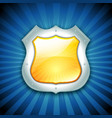 security protection shield icon vector image vector image