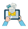 send email related vector image vector image