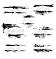 set black borders isolated on white background vector image vector image