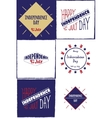 Set of cards Independence day vector image