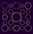 set of round decorative frameworks banners vector image
