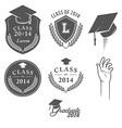 set of vintage graduation labels badges and design vector image vector image
