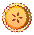 sweet biscuit icon cartoon style vector image