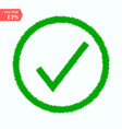 symbol of checked thin green icon of multimedia vector image vector image