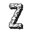 vintage 3d alphabet letter z template