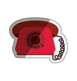 Vintage telephone communication vector image vector image