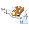 waiter cannoli isolated with in character vector image vector image