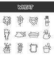 wheat flat cartoon icons vector image vector image