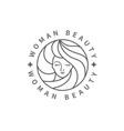 woman beauty fashion logo vector image vector image