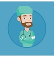 Young confident surgeon with arms crossed vector image vector image