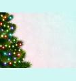 christmas tree festive poster vector image