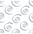 Seamless pattern with 3d grey waves vector image