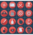 Set of pirate or sea icons vector image