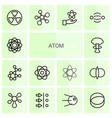 14 atom icons vector image vector image