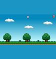 8 bit pixel art platformer game asset - original vector image vector image