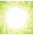 Abstract colorful light green polygon around white vector image vector image