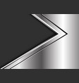 abstract silver black arrow direction on dark vector image vector image