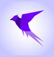 abstraction bird vector image vector image