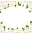 apple flowers border vector image vector image
