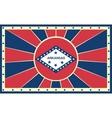 Arkansas state sun rays banner vector image