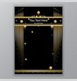 art deco template golden-black vector image vector image