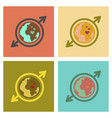assembly flat icons earth gays symbol vector image vector image