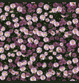 autumn flowers pattern vector image vector image