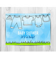 baby boy shower invitation card vector image vector image
