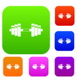 barbell set collection vector image vector image