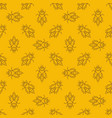 bee yellow linear seamless pattern or vector image vector image