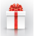 big beautiful gift box with a red bow vector image vector image