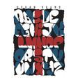 british flag graffiti bubble alphabet typography vector image vector image