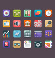 business app icons set vector image vector image