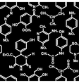 Chemistry seamless background vector image