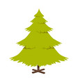 christmas pine tree poster vector image vector image
