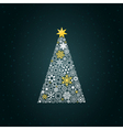 Christmas tree4 vector image vector image