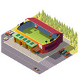 city public stadium building isometric vector image vector image