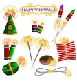 Colorful firecracker for Diwali holiday fun vector image