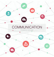 communication trendy web template with simple vector image vector image