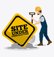 Construction digital design vector image