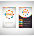 creative corporate business card templates vector image
