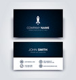 creative dark and clean business card template vector image