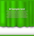 curtain of green color vector image vector image