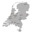 detailed map of the netherlands vector image